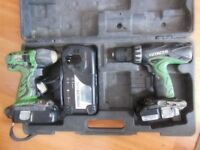 Hitachi 18 v Combi Drill and Impact driver. Fully Working.