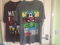 X2 Men's Marvel T Shirts (Size Medium)