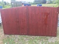 Driveway wooden gate