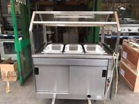 CATERING COMMERCIAL BAIN MARIE WITH HOT CUPBOARD UNDER FAST FOOD TAKE AWAY KEBAB COMMERCIAL KITCHEN