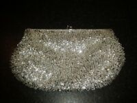 Lovely silver beaded party/occasion bag from Accessorize - never used!