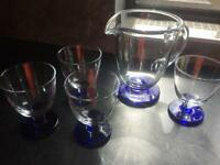 Denby water jug and glasses