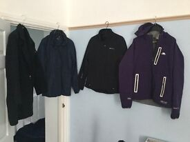 Collection of coats inc Mountain Warehouse and Trespass