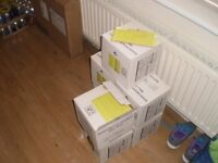 7 BOXES OF LIME GREEN METRO GLOSS BEVELLED TILE