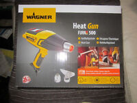 Wagner Heat Gun F500 - professionally rated electronic heat gun. New, Boxed.