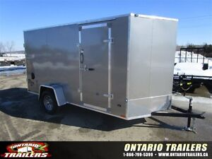 2016 Stealth Trailers 6 X 12 + V NOSE / DOUBLE REAR DOORS / META