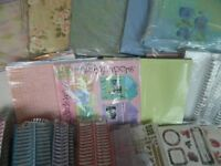 SET 3 SCRAPBOOKING, 5 LARGE ALBUMS,2XSMALL ALBUMS,7 packs PAPER /CARD STOCK & WIRES