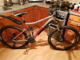 "VooDoo Canzo Full Suspension Mountain Bike 18"""