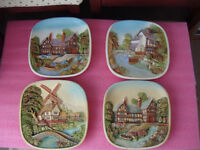 Vintage Wall Plaques - £15 for all four
