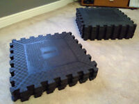 Escape commercial gym interlocking tiles and Reebok I-Trainer 1.1 Cross Trainer, gym equipment