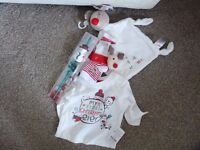 Christmas bundle! Top, straw, socks, etc. All brand new, tagged/in packaging!
