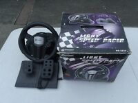 Gamexpert Light Speed Racer Tri-Format Steering Wheel - PS2 PS1 Xbox Cube