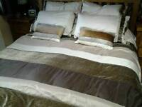 Matching bedroom linen (2 sets), curtains (2 pair) & lampshade