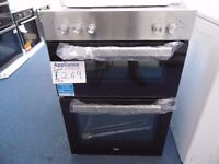 EX-DISPLAY BEKO INTEGRATED STAINLESS STEEL DOUBLE OVEN REF: 31227