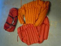 Buoyancy aids complete with large roll bag
