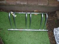 BIKE STAND/RACK 3 BIKES, ROUNDED STEEL WITH ANCHOR POINTS DRILLED see details