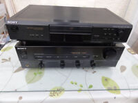 Beautiful Sony set up amplifier and Cd player perfect working order with T/T input