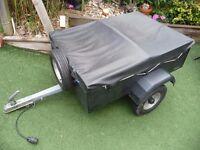 Camping Trailer car boot tips aluminium 800kg 120cm x 86cm x 36cm Black