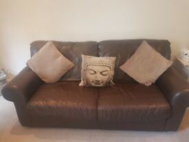 Leather sofa x2
