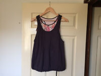 Marks & Spencer Rosie for Autograph Medium Impact Layered Bra Vest - Size Small