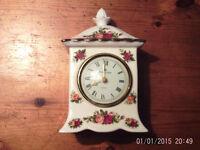 Royal Albert Country Rose Mantle Clock