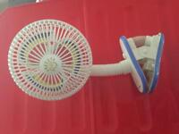 Small clip on fan for pram or cot