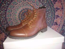 Brown Boots - Men's UK7 - Will's Vegan Leather