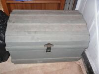 Old Antique Metal Trunk For Sale. Hockley Essex.