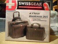 Swissgear laptop trolley case with matching Notebook case.
