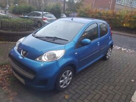 PEUGEOT 107 2012 4 DOOR 1L LOW MILEAGE