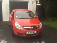 Vauxhall corsa 1.0 S ecoflex in red 2010
