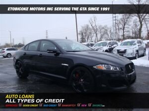 2014 Jaguar XFR BLACK ON BLACK / NAVIGATION / SUPERCHARGED