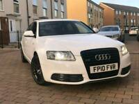 Audi A6 2010 Le Mans white pearl fully loaded Audi Service History