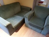 Habitat Two Seater Sofa and Armchair