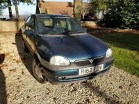 Vauxhall Corsa 1.4 1997 Low mileage, automatic