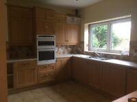 Pale oak large kitchen