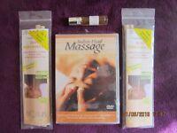 GENUINE BIOSUN HOPI EAR CANDLES 2 PACKS/INDIAN HEAD MASSAGE DVD/ROLLER BALL OIL