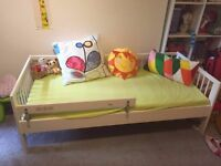 Ikea GULLIVER child bed frame with guard rail in good condition