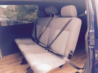 VW T5 quick release row of 3 rear seats with belts and brackets