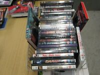 Box of books, DVDs and CDs for sale