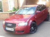 Audi a3 2003 3dr 2.0fsi burgandy colour 6months mot