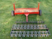 SCH SUPPLIES 48 inch carrier frame with 48 inch Dethatcher and Aerator Attachments