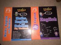 Maths and English workbooks