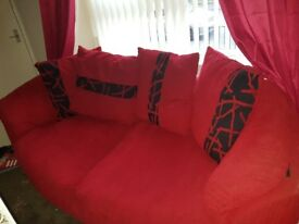 Red Sofa lovely in any home