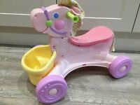 Fisher price musical ride on pony