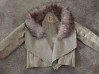 River Island baby girls fur jacket 12-18 months