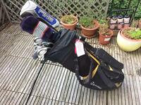 Golf clubs and bag, full set, ping irons/driver