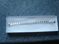"STERLING SILVER SOLID GENTS HEAVY ""OPEN CURB CHAIN"" BRACELET"