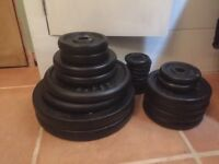 York Cast Weights totalling 92.5 KG of various sizes