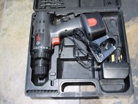 Cordless Drill / Driver 14.4 V - One Battery - Boxed with Drill Bits